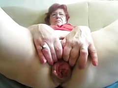 55yr old Granny Fucks Fist Prolapse their way Cunt and Exasperation on Cam