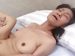 Amateur Japanese granny banged and facial