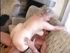 Granny receives a Pussy spreading connected with a broad in the beam Cock