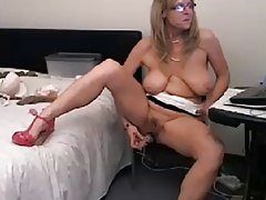Hot, busty 48 year old mature teasing surpassing webcam (no sound)