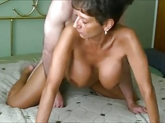 Mature granny everywhere fat fake bowels gets fucked and creampied