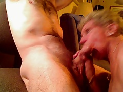 The art of Blow Job for a Granny Cougar