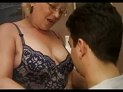 Watch as hot student fucks old lady teacher on the best granny porn tube!