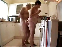 Old couple having fun. Amateur patriarch