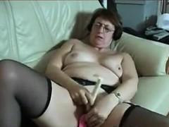 Grandma Masturbating With Mature Toys