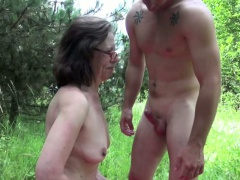 German Mom caught outdoor increased by have sexual intercourse by young boy