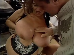 Hideous GRANNY Approximately HUGE BOOBS FUCKED  Overwrought THE MECHANIC 1