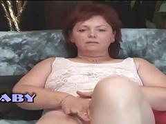 Obese Milf Mature Dame Masturbates Herself