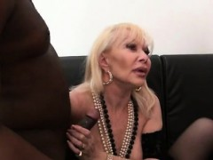 French cougar Irma fucked fro a threesome