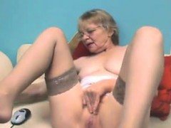 Cute Grandmother In all directions Glasses Masturbates