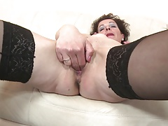Mature skinny mother with vitalized vagina