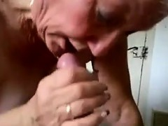 Take charge Granny Gives A Blowjob And Swallows