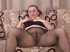 Amateur mother with big rump and gradual cunt