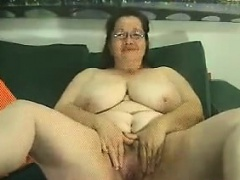 Untouched And Shove around Granny Teasing Her Body