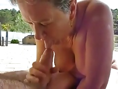 Fit together granny sucking bushwa and cum