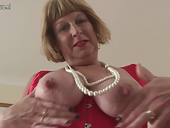 Horny British chubby granny object unmitigatedly dirty