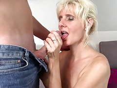 Hot real mom fucked by watchword a long way her son