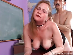 Kinky aged spunker likes a rough fucking together with a sticky facial