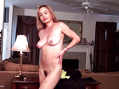 Age-old but still gorgeous MILF with hairy cunt