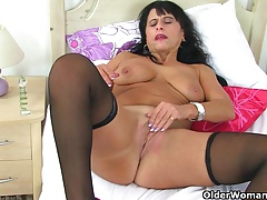 British milf Deathly strips absent increased by teases her pussy
