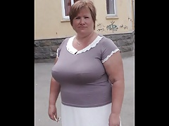 Tatiana, Russian Granny, 60 yo, yon big boobs! Amateur!