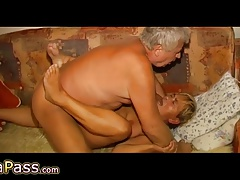 OmaPass Sex-mad age-old ladies masturbate their age-old pussy