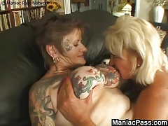 Old lesbian whores enjoy pussy licking and ass eating on best granny porn tube!
