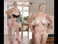 Unstoppable stream of grannies big tits and tit fuck on best free porn tube!