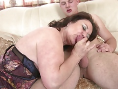 Mature mom and wife seduces young not her son