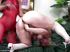 Mature mommy fisted hard hard by young lesbian girl