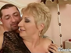 Young Italian Plank Banging Hot BBW Granny Blonde